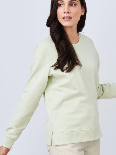 Sweat 100% coton bio Femme Vert pâle, certifié GOTS