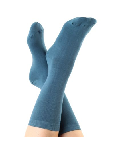 Chaussettes coton bio du 35 au 42 Bleu