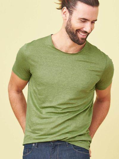 T-shirt 100% lin bio pour homme Fougère