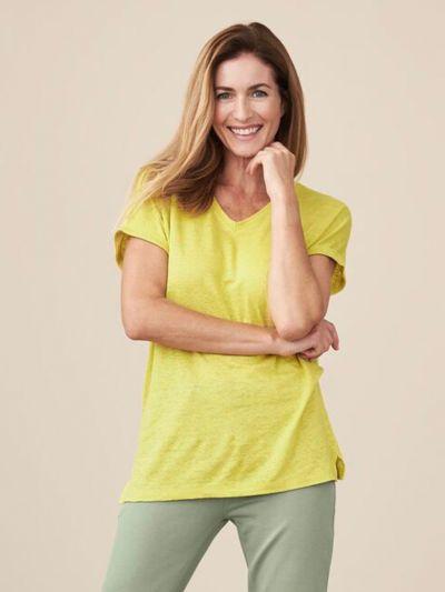 T-shirt 100% lin bio, Limoncello, GOTS