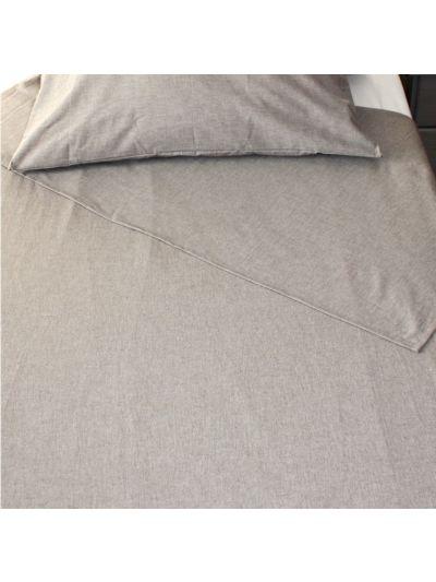 Drap plat 100% coton bio 260X300 cm GOTS coloris Marron chiné