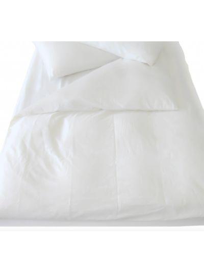 Housse de couette 100% coton bio 24X260 GOTS coloris Blanc cassé
