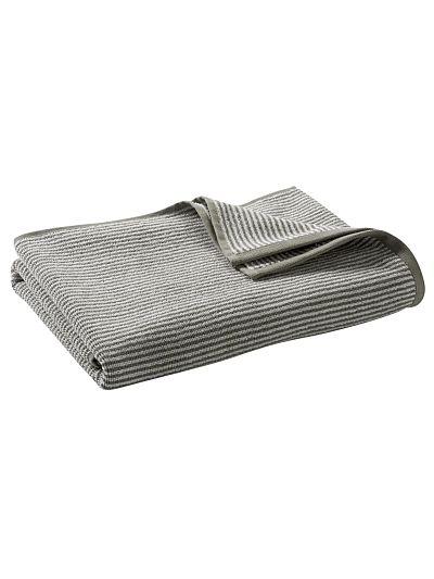 Serviette 100% coton bio 450 gm/m2, 140x70 cm Rayé Naturel/Taupe Clair