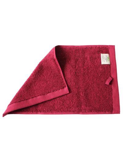 Serviette 100% coton bio 600 g/m2, 30X50 cm, Bordeaux GOTS