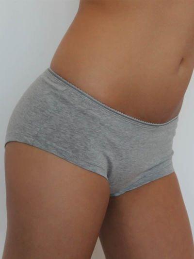 """Ligne """"LEELA"""" shorty coton bio gris chiné"""