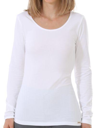 """Ligne """"BETTY"""" T-shirt coton bio Blanc cassé GOTS"""