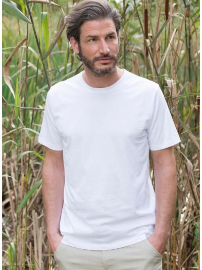 T-shirt 100% coton bio homme Blanc, GOTS