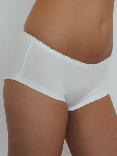 """Ligne """"LEELA"""" shorty coton bio ivoire"""
