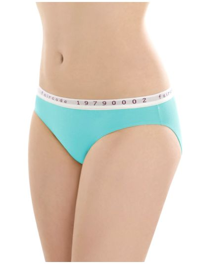 "Ligne ""BETTY B"" Slip coton bio taille 44/46 Turquoise GOTS"