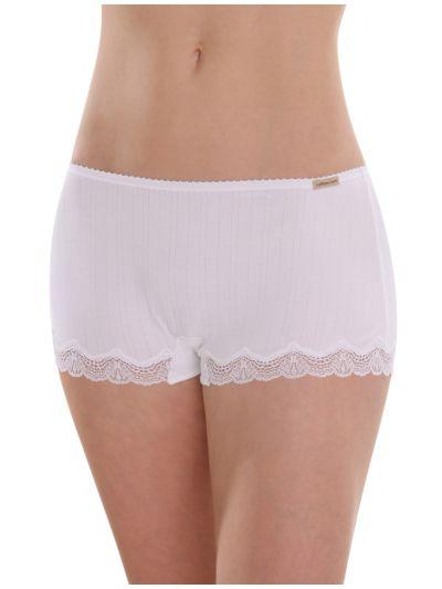 """Ligne """"Anna"""" shorty coton bio Blanc cassé FaireTrade"""
