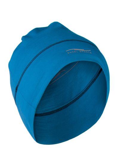 Bonnet laine et soie unisexe Bleu