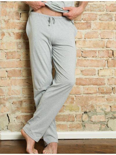 Pantalon relax 100% coton bio du S au XXL gris chiné