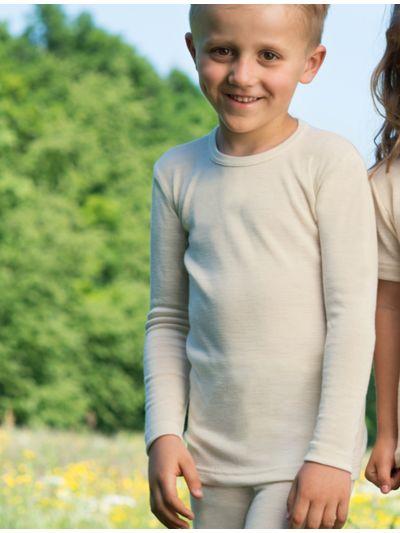 Tricot laine et soie unisexe Naturel de 2 à 17 ans