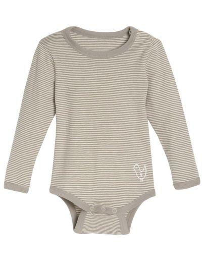 Body 100% coton bio bébé unisexe, manches longues rayé