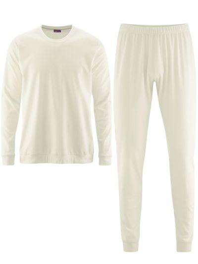 Pyjama 100% coton bio GOTS, Homme, Naturel