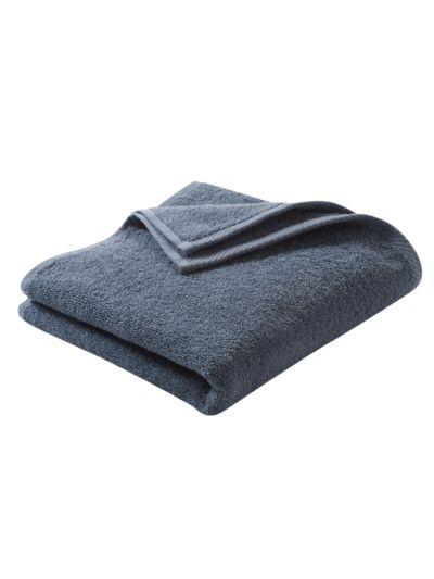 Serviette 100% coton bio 450 gm/m2, 100x50 cm bleu minéral