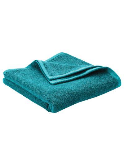 Serviette 100% coton bio GOTS, 450 gm/m2, 100x50 cm Petrole