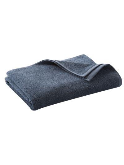 Serviette 100% coton bio 450 gm/m2, 140x70 cm, Bleu minéral