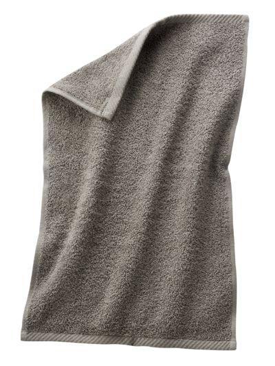 Serviette d'invité 100% coton bio 30X50 cm Taupe clair