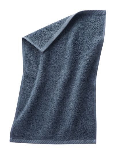 Serviette 100% coton bio 30X50 cm Bleu minéral