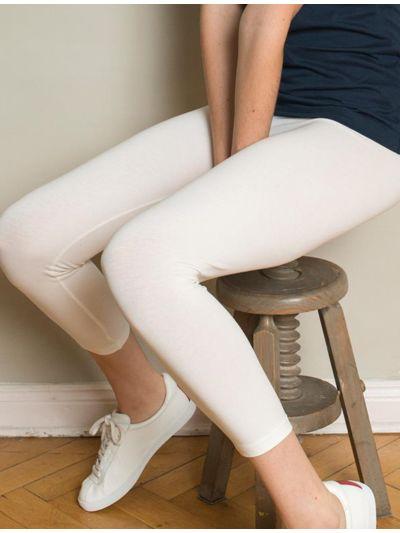 Legging 7/8 coton bio femme Blanc GOTS