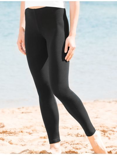 Legging coton bio long femme, GOTS, Noir