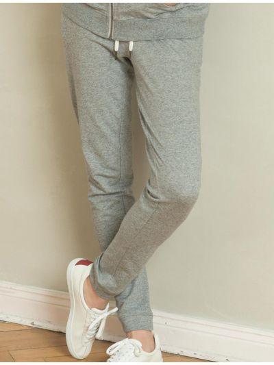 Pantalon détente 100 % coton bio Gris chiné