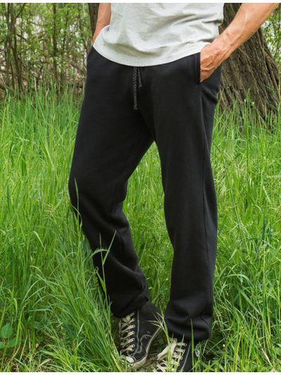 Pantalon 100% coton bio sport homme noir
