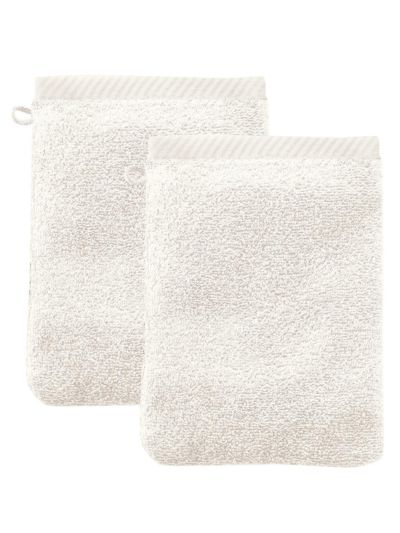 Lot de 2 gants de toilette 100% coton bio Naturel