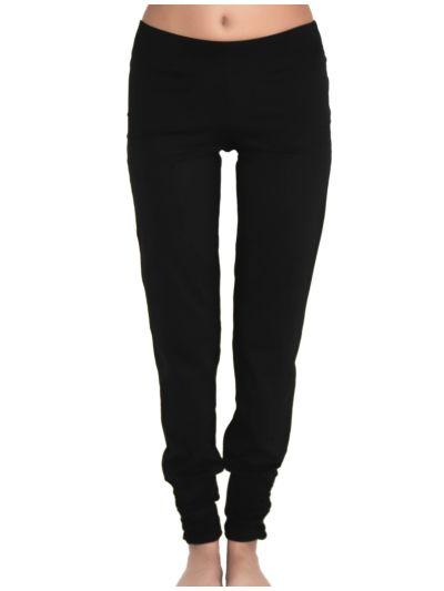 Pantalon coton bio Yoga bas resserré femme noir