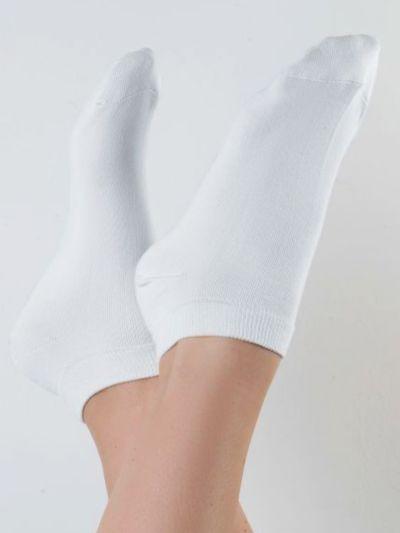 """Chaussettes coton bio du 35 au 46 """"courtes """"Blanc Albero"""