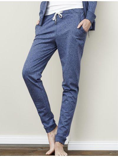 Pantalon/jogging 100% coton bio Bleu chiné
