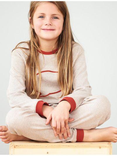 """Pyjama 100% coton bio unisexe """"rayé bulle"""""""