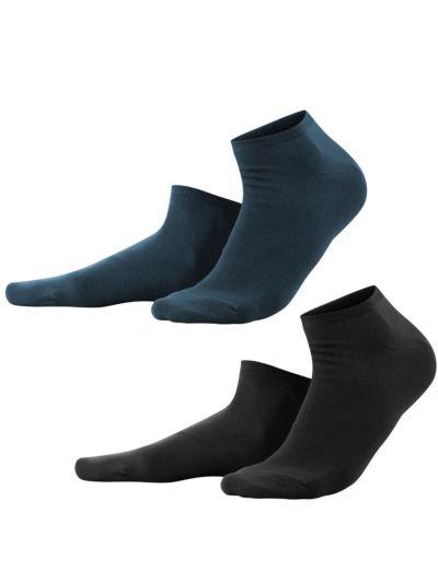Lot de 2 paires du 35 au 46 Noir/Bleu