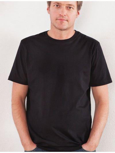 T-shirt 100% coton bio  homme Noir, GOTS