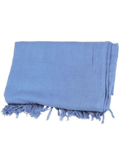 Echarpe/chèche en 100% coton bio coloris bleu clair