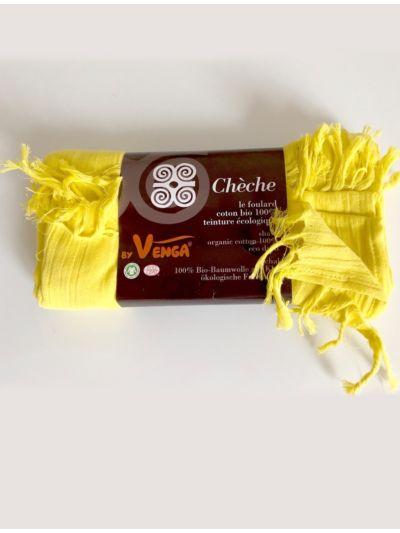 Echarpe/chèche en 100% coton bio coloris Jaune
