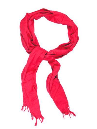 Echarpe/chèche en 100% coton bio coloris rouge