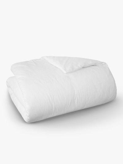 Housse de couette 100% coton bio 140X200cm, fabriqué au Portugal, GOTS blanc