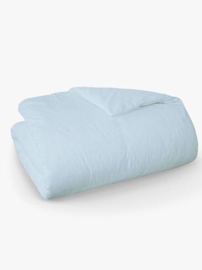 Housse de couette 100% coton bio 260cmX240 cm, fabriqué au Portugal, GOTS bleu clair