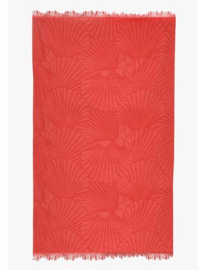 Fouta 100% coton bio 100X180 cm coquillage sanguine, fabriqué au Portugal