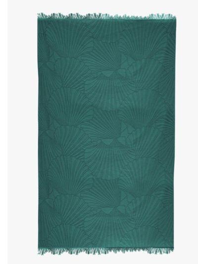 Fouta 100% coton bio 100X180 cm coquillage abysse, fabriqué au Portugal