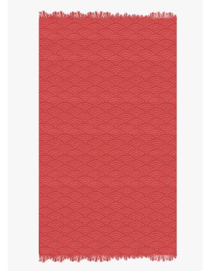 Fouta 100% coton bio 100X180 cm vague sanguine, fabriqué au Portugal