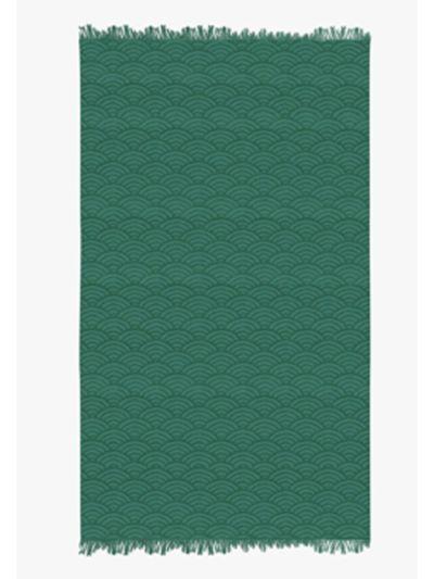 Fouta 100% coton bio 100X180 cm vague abysse, fabriqué au Portugal
