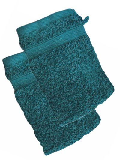 Lot de 2 Gants 100% coton bio 600 gr/m2, abysse, fabriqué au Portugal, GOTS