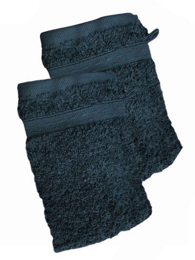 Lot de 2 Gants 100% coton bio 600 gr/m2, nuit ténebreuse, fabriqué au Portugal, GOTS