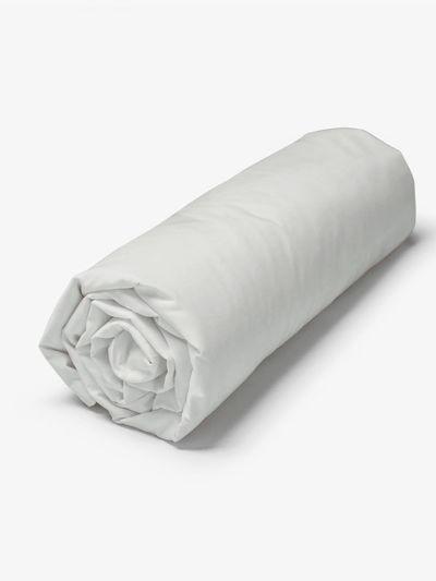 Drap housse 100% coton bio 140X200X30 cm, Fabriqué au Portugal, GOTS gris nuage