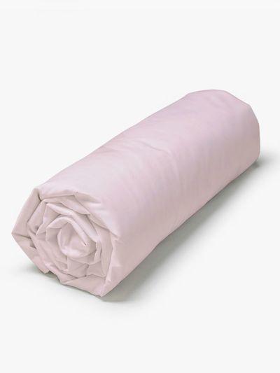Drap housse 100% coton bio 160X200X30 cm, Fabriqué au Portugal, GOTS rose pétale
