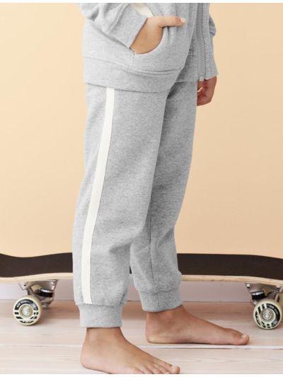 Pantalon jogging 100% coton bio unisexe enfant gris chiné