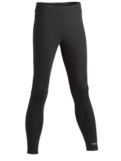 Legging laine et soie pour le sport 240 gr/m2, femme, noir